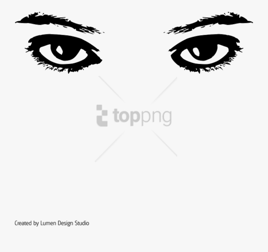 And White,facial Expression,head,close Photography,eyelash,clip - Eyes Clip Art, Transparent Clipart