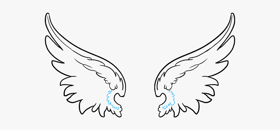 How To Draw Angel Angel Wings Outline Png Free Transparent Clipart Clipartkey