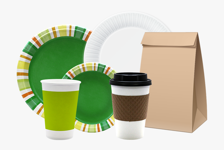 Aspen Products Group Of - Paper Cup & Plate, Transparent Clipart