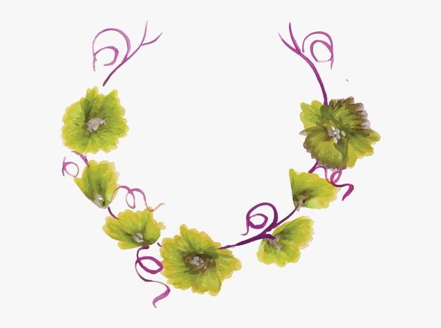 Flower Border Png - Floral Design, Transparent Clipart