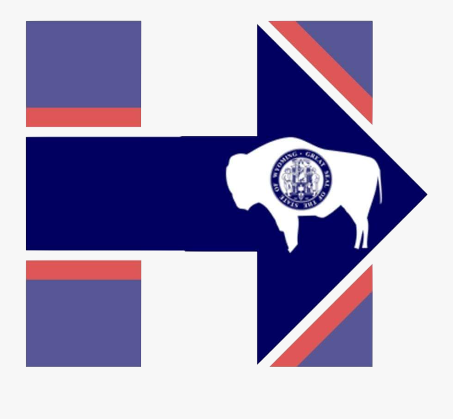 Transparent Matthew Stafford Png - Wyoming State Flag, Transparent Clipart