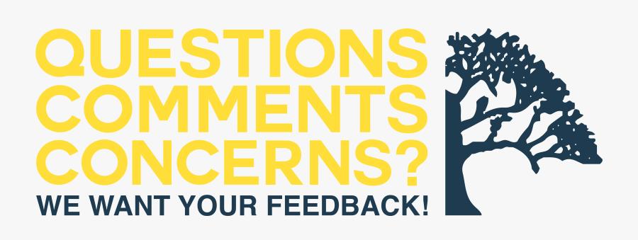 Transparent Question Block Png - Any Questions Comments Or Concerns, Transparent Clipart