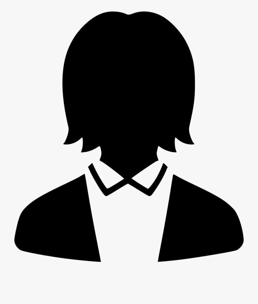 Work Profile User Default Female Suit Comments Clipart - Default User Profile In Png, Transparent Clipart