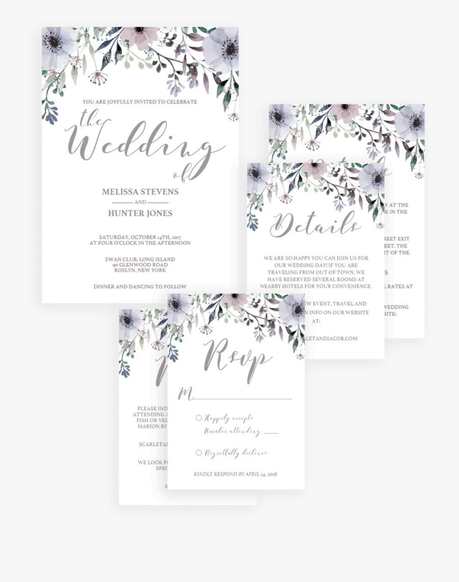 Transparent Rustic Wedding Invitation Clipart - Wedding Reception Invitation Templates, Transparent Clipart