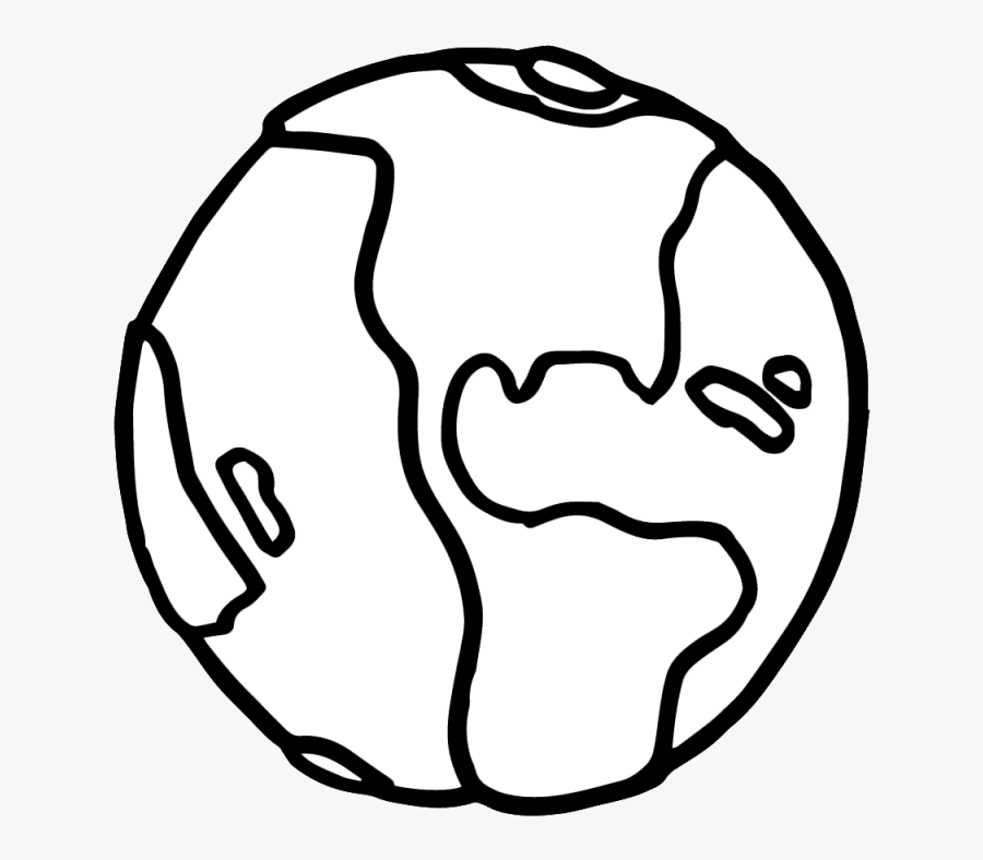 Earth Day Clipart Black And White - Solar System Earth Drawing, Transparent Clipart