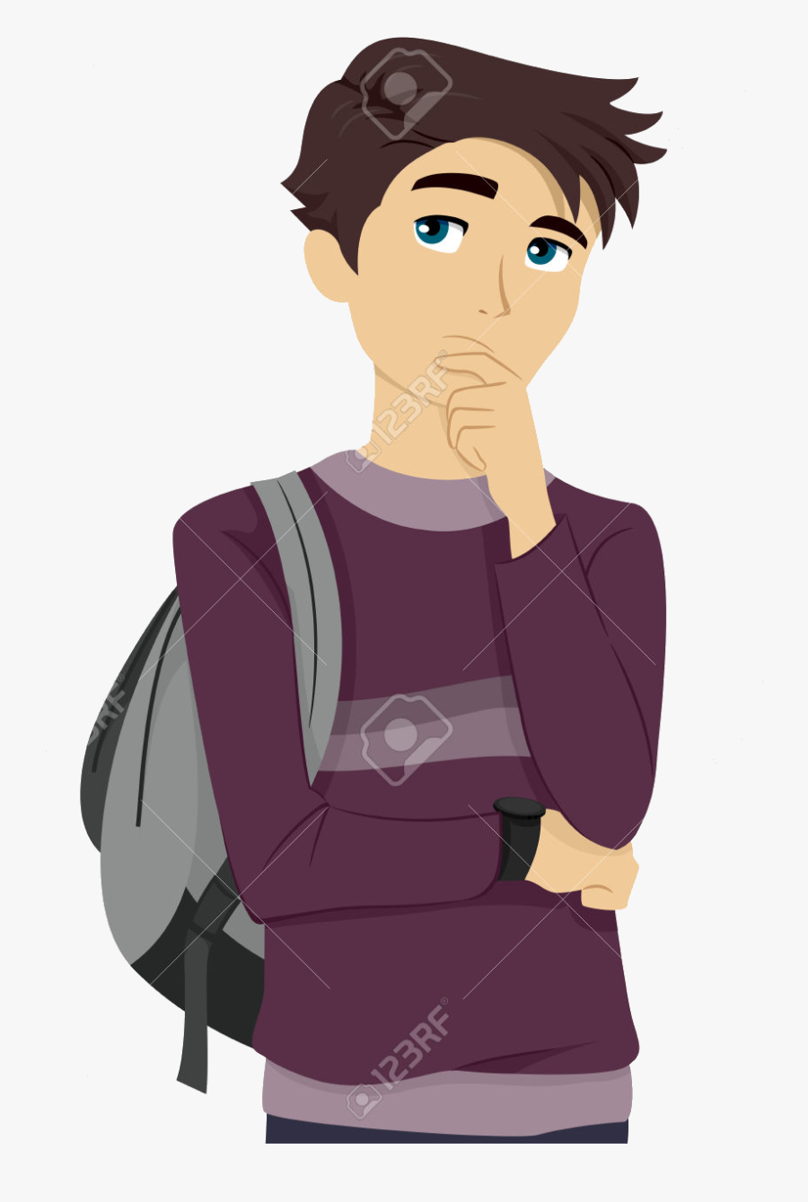 College Student Thinking Clipart Abeoncliparts Cliparts - College Student College Clipart, Transparent Clipart