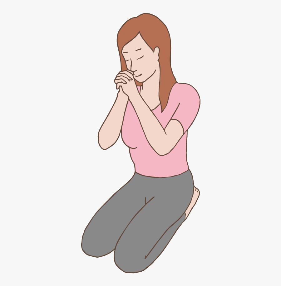 A Woman Praying - Face De Mulher Orando Png, Transparent Clipart