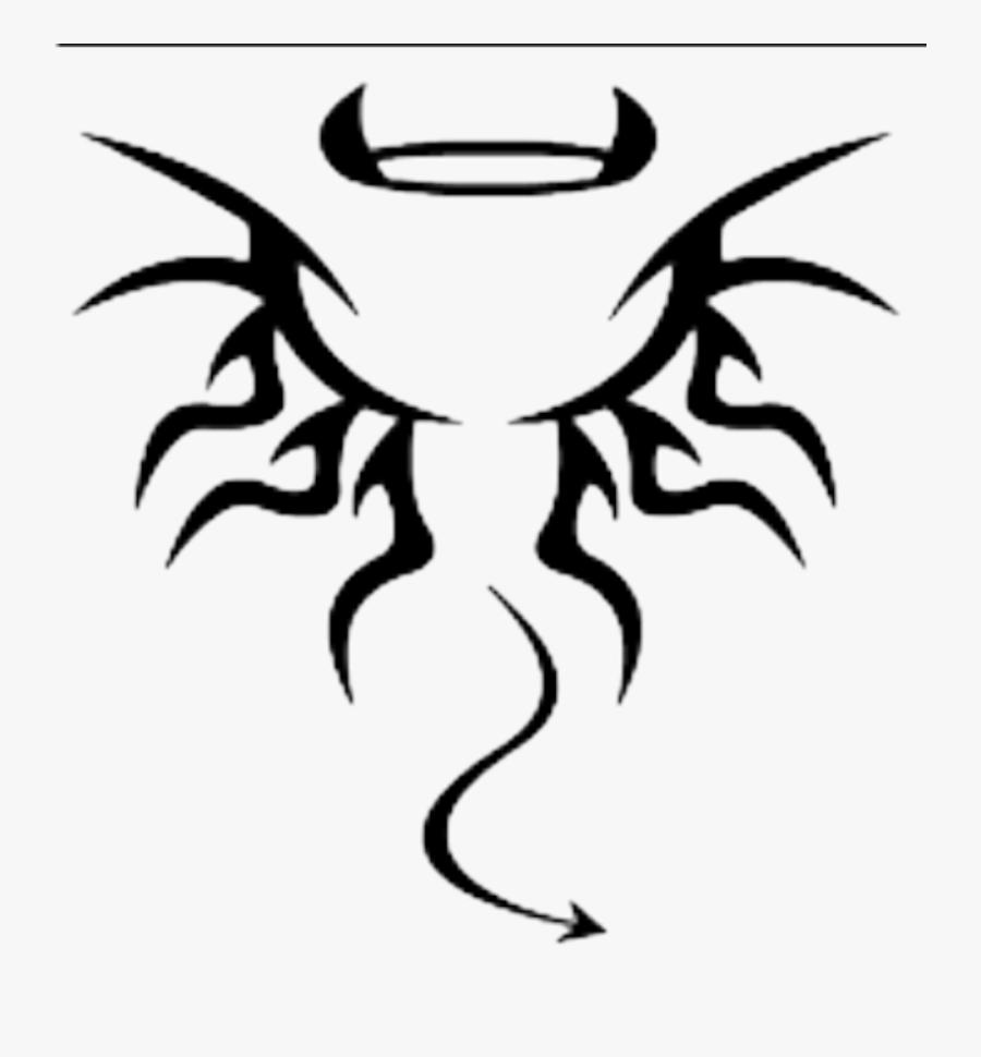 Transparent Black Outline Png - Small Devil Tattoo Designs, Transparent Clipart