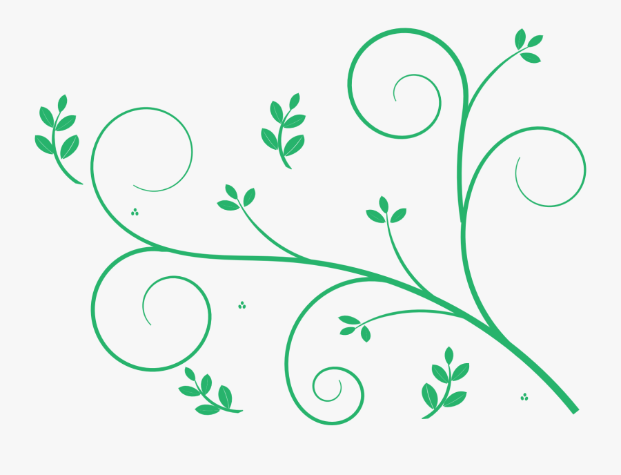 Transparent Green Swirl Clipart - Simple Floral Pattern Png, Transparent Clipart