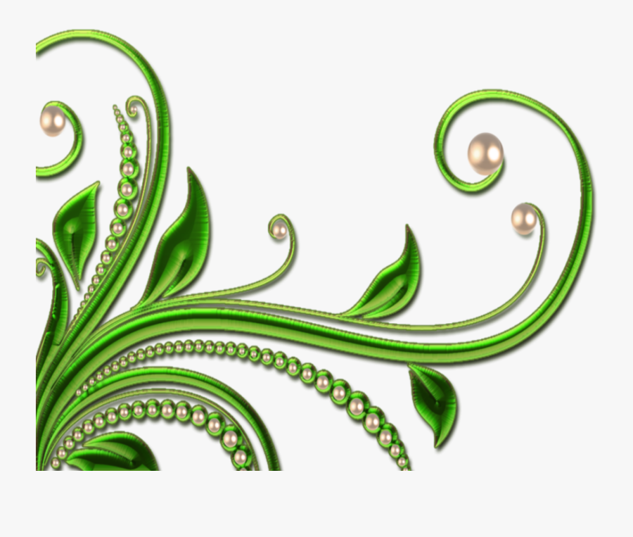Transparent Green Swirl Png - Design Border Green Background, Transparent Clipart