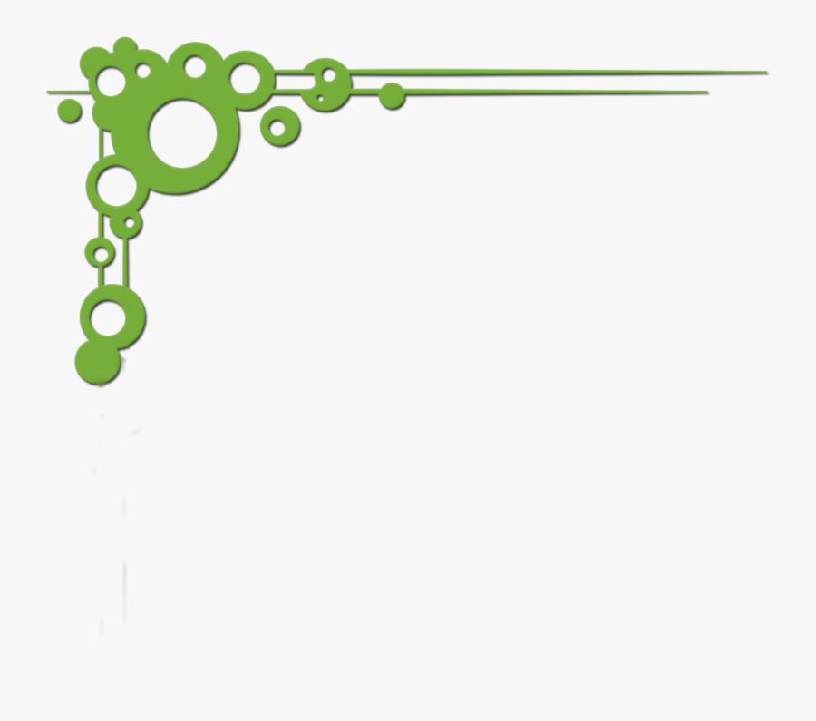 Clip Art Green Border Design - Green Page Border Design, Transparent Clipart