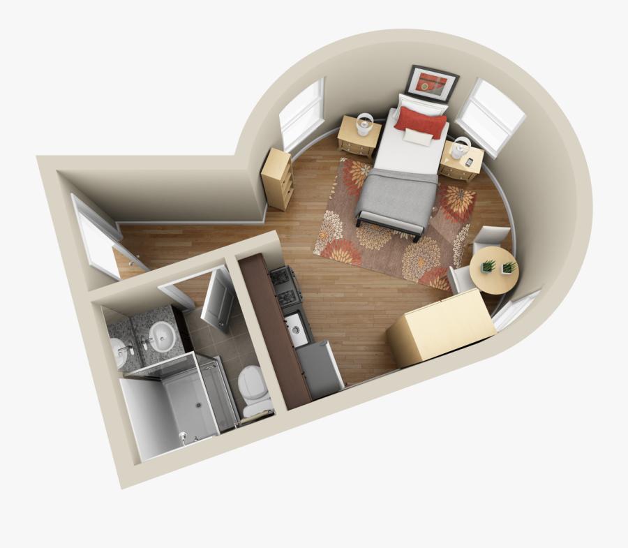 Make Your Floor Plans Pop - 3d Studio Apartment Layout, Transparent Clipart