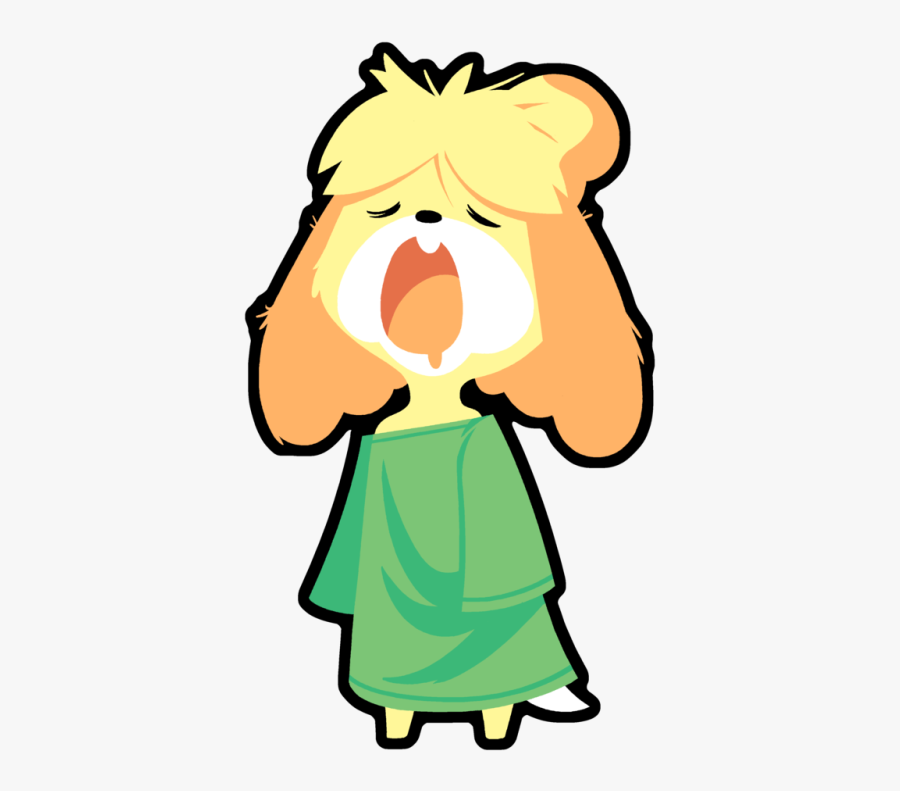 """New Leaf Yoshi""""s Island Facial Expression Yellow Nose - Animal Crossing Isabelle Sleepy, Transparent Clipart"""