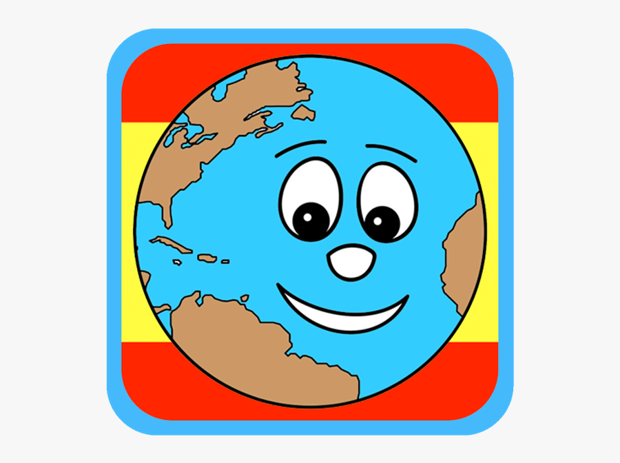 Earth Smiling Coloring Pages, Transparent Clipart