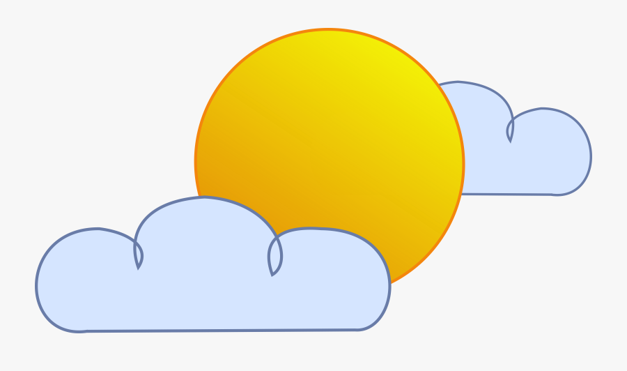 Sunny Cloudy Weather Clipart - Cloud, Transparent Clipart