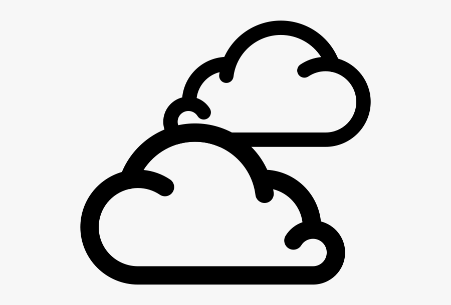 Simple Weather Icons2 Cloudy - Cloudy Weather Icon Png, Transparent Clipart