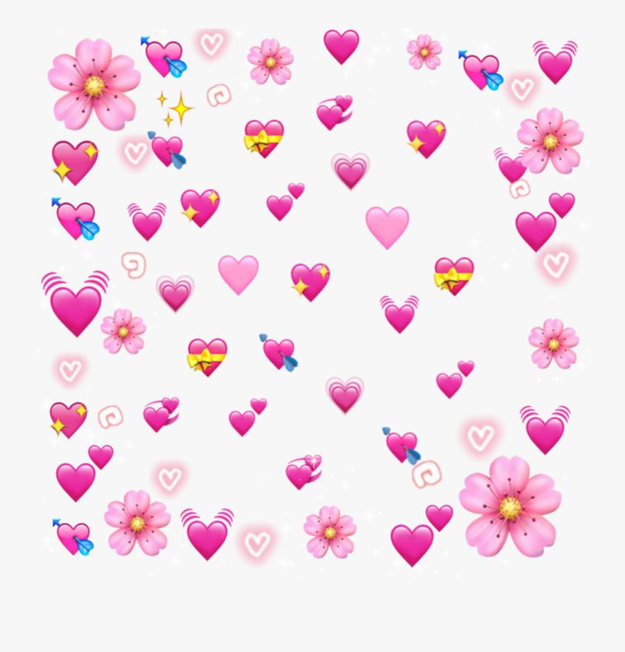 Transparent Pastel Heart Clipart - Heart Emoji Meme Png, Transparent Clipart
