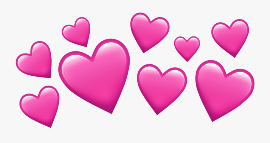 Heart Hearts Heartcrown Pink Pinkhearts Tumblr Headcrow - Hearts Over Head Png, Transparent Clipart