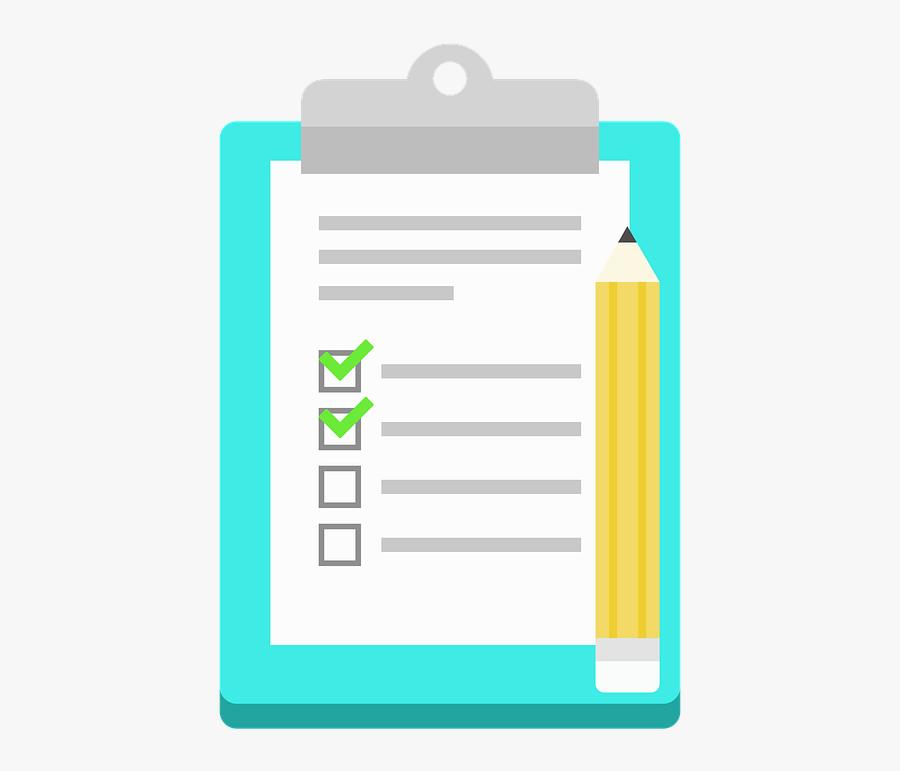 List, Notes, Icon, Flat Design, Checklist, Vector Image - Update Website Notice, Transparent Clipart