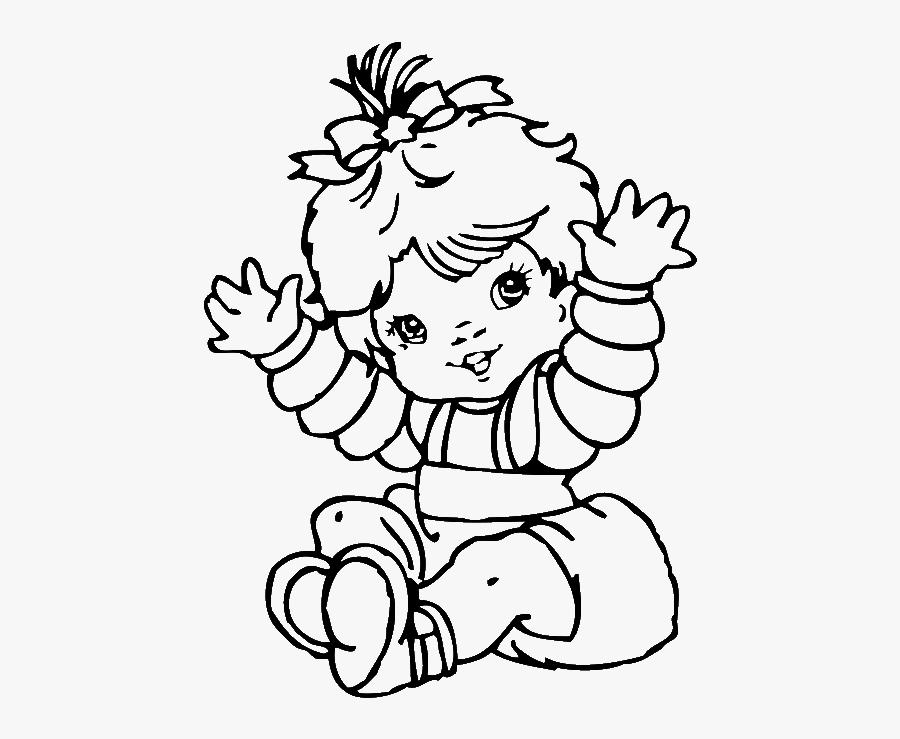 Alluring Cute Baby Girl Coloring Pages Colouring To - Ausmalbilder, Transparent Clipart