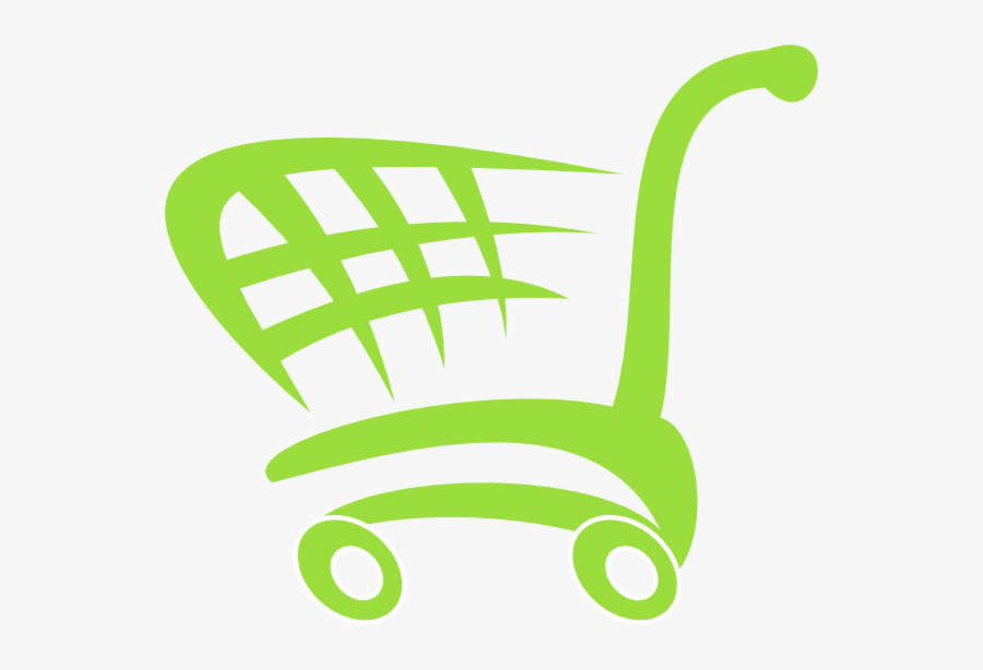 Blue Shopping Cart Logo, Transparent Clipart