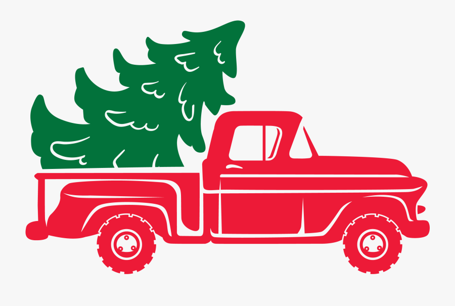 Clip Art Christmas Tree Truck Svg - Christmas Day, Transparent Clipart