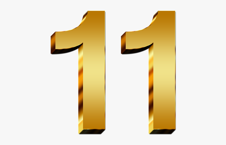 Number 11 Gold Png , Free Transparent Clipart - ClipartKey