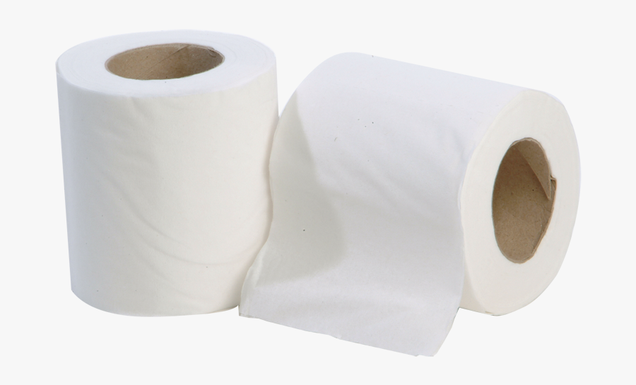 Toilet Roll 200 Sheets 2 Ply White - Tissue Paper, Transparent Clipart
