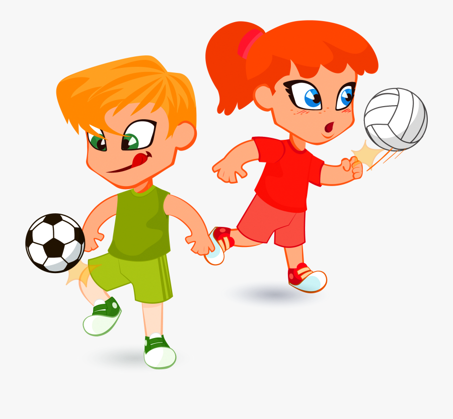 Child Cartoon Illustration - Sport Children Vector, Transparent Clipart