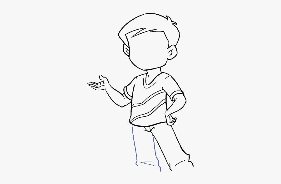 How To Draw Boy - Draw A Cartoon Boy, Transparent Clipart