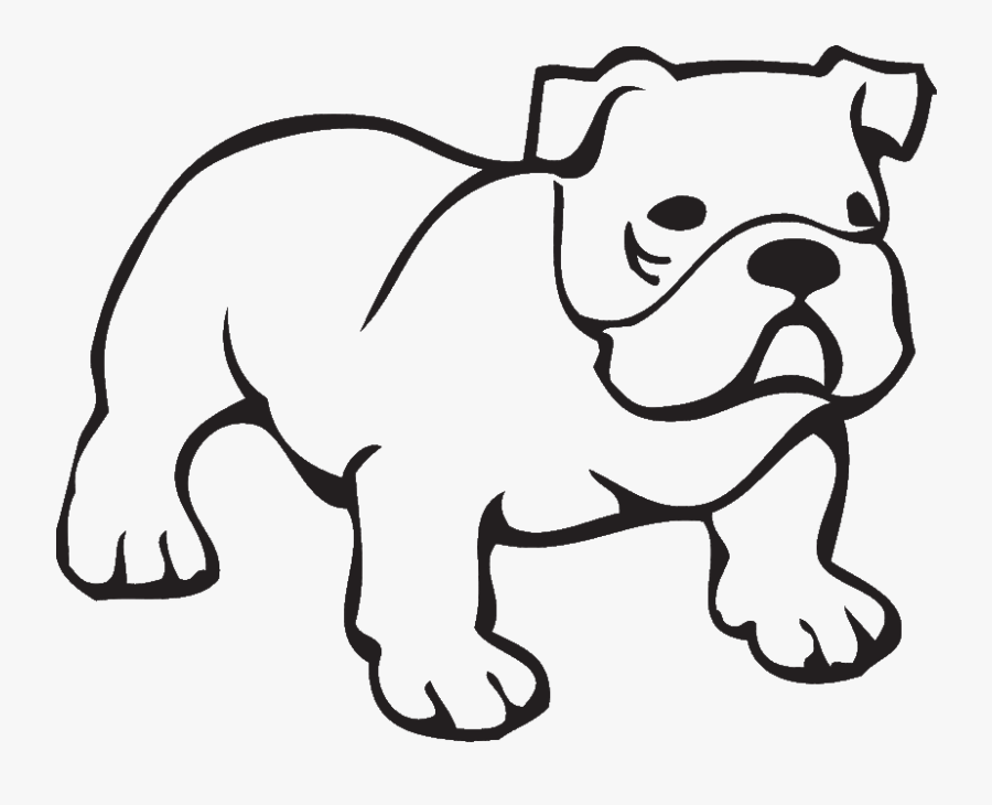 Bulldog Outline Clipart - Bulldog Coloring Page , Free Transparent Clipart  - ClipartKey