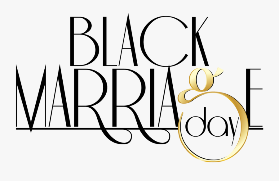 Black Marriage Day - Calligraphy, Transparent Clipart