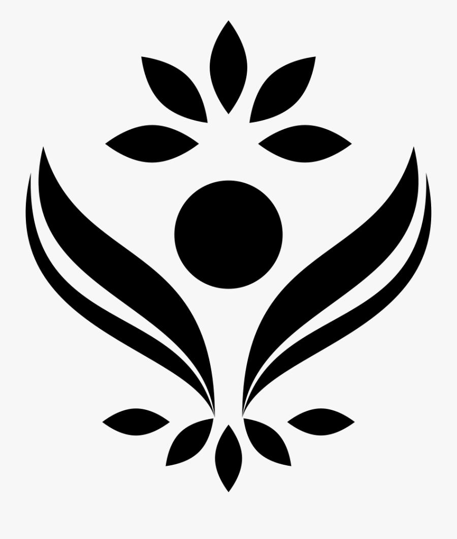 Leaf,black And White,stencil,clip Art,botany,monochrome - Bloom Icon, Transparent Clipart