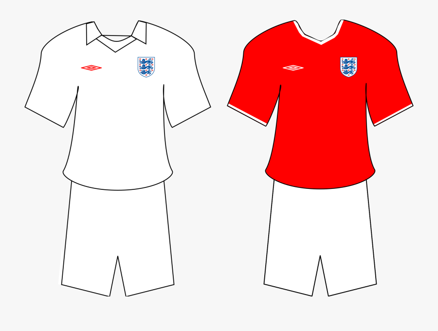 Football Shirts Svg - England National Football Team, Transparent Clipart