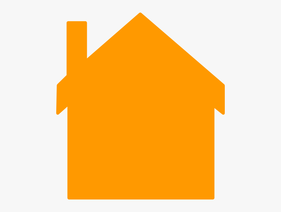 Orange House Ff9900 Clip Art At Clker Com Vector Clip - Orange House Cartoon, Transparent Clipart