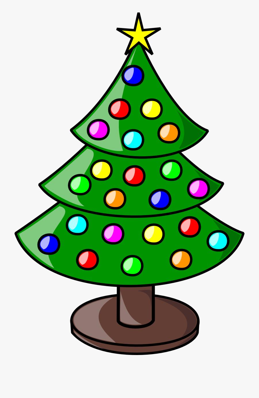 Christmas Tree Clip Art, Transparent Clipart