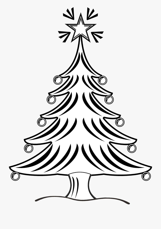 Christmas Tree Clip Art Black And White - X Mas Tree Clipart Black And White, Transparent Clipart