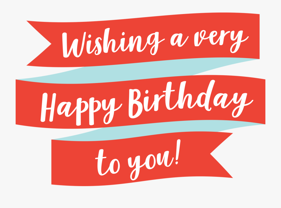Transparent Happy Birthday Banner Clipart - Text Png Clip Banner Transparent Happy Birthday, Transparent Clipart