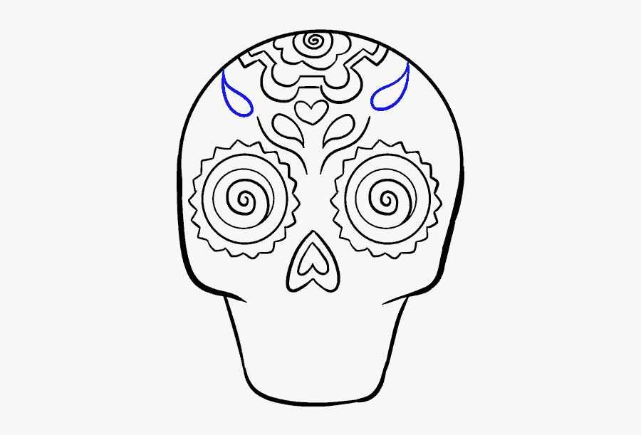 How To Draw A - Dia De Los Muertos Drawings Easy To Do, Transparent Clipart