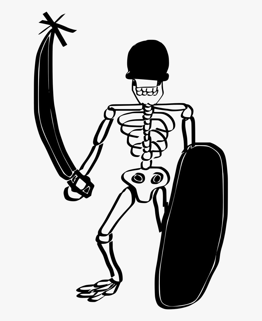 Drawings Skull Bones Clipart , Png Download - Human Skeleton Drawing Easy, Transparent Clipart