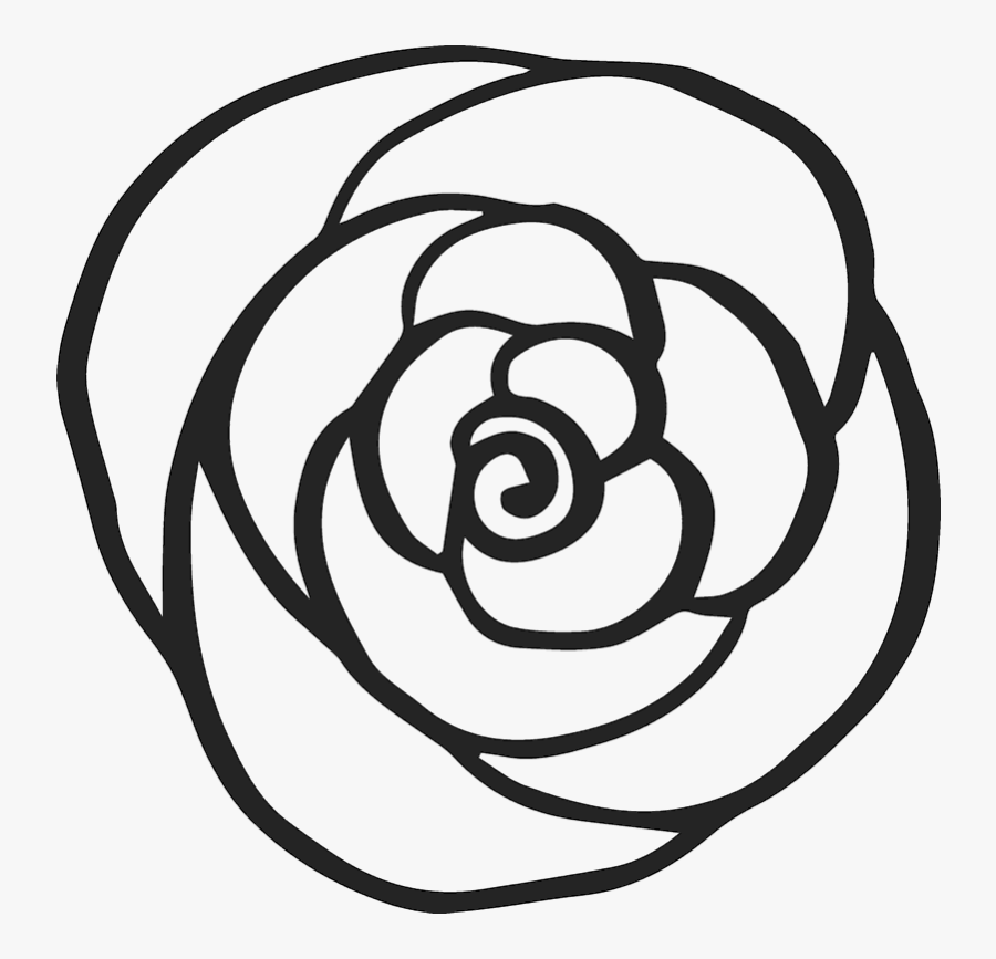 Collection Of Free Spiral Drawing Rose Download On - Line Rose Outline Drawing Png Transparent, Transparent Clipart