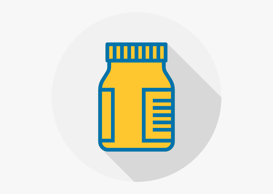 Chemical Bottle - Medicine, Transparent Clipart