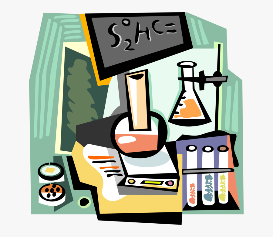 Vector Illustration Of Chemistry Lab Test Tube Or Culture, Transparent Clipart