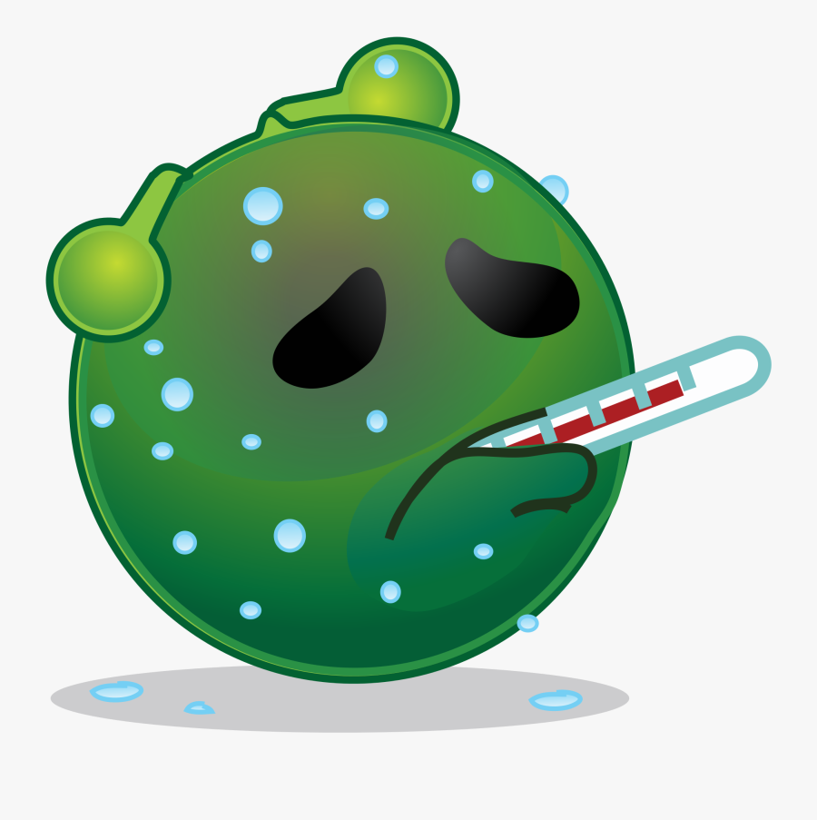 Clipart Thermometer Thermometer Fever - Sick Alien, Transparent Clipart