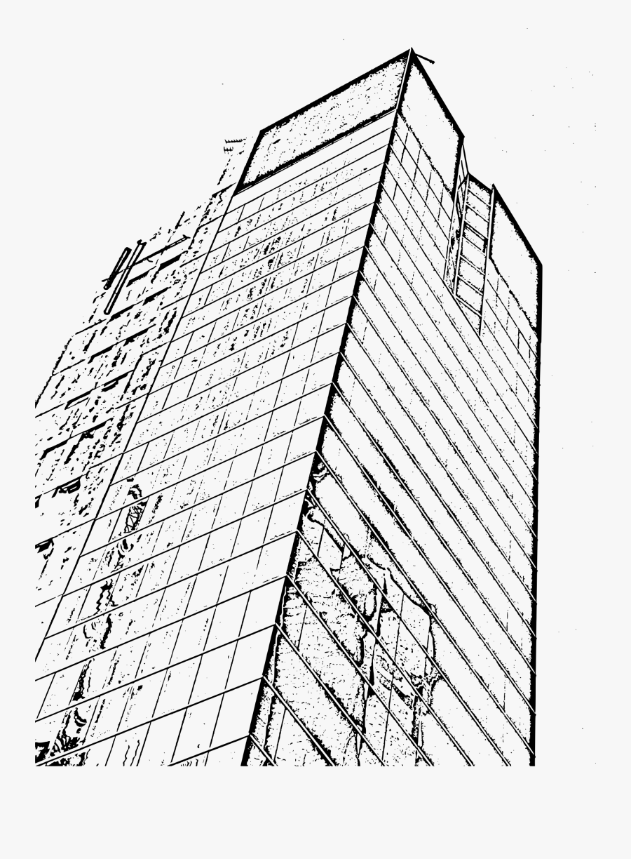 Building Line Drawing At - Architectural Building Line Drawing, Transparent Clipart