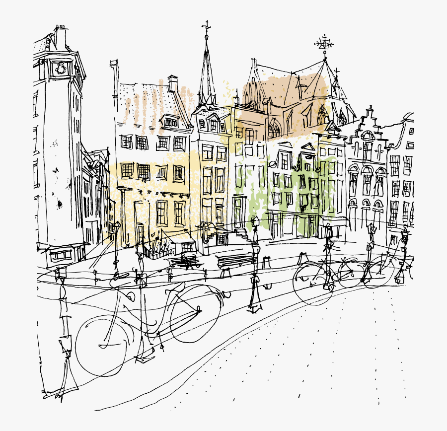 Transparent Amsterdam Clipart - Amsterdam Sketch, Transparent Clipart