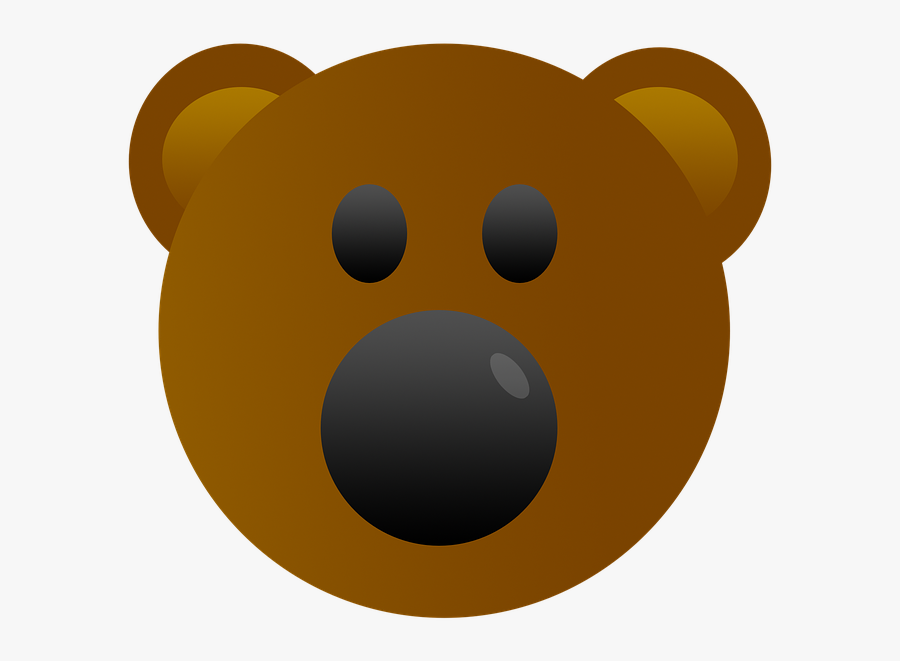Bear, Emoji, Cute, Animal, Emotion, Head, Emoticon - Gambar Kepala Beruang Kartun, Transparent Clipart