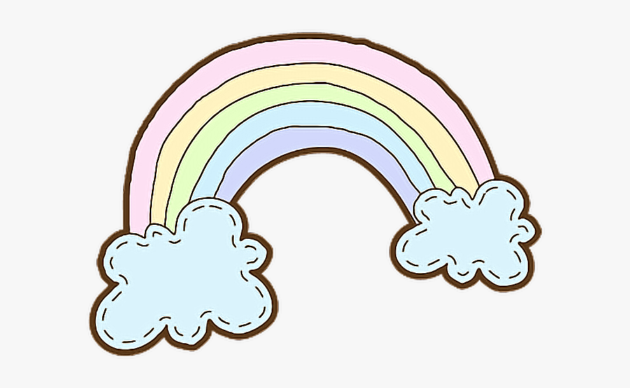 #cute #colorful #rainbow #could #cartoon #drawing #dreamy - Rainbow Cartoon Drawing, Transparent Clipart