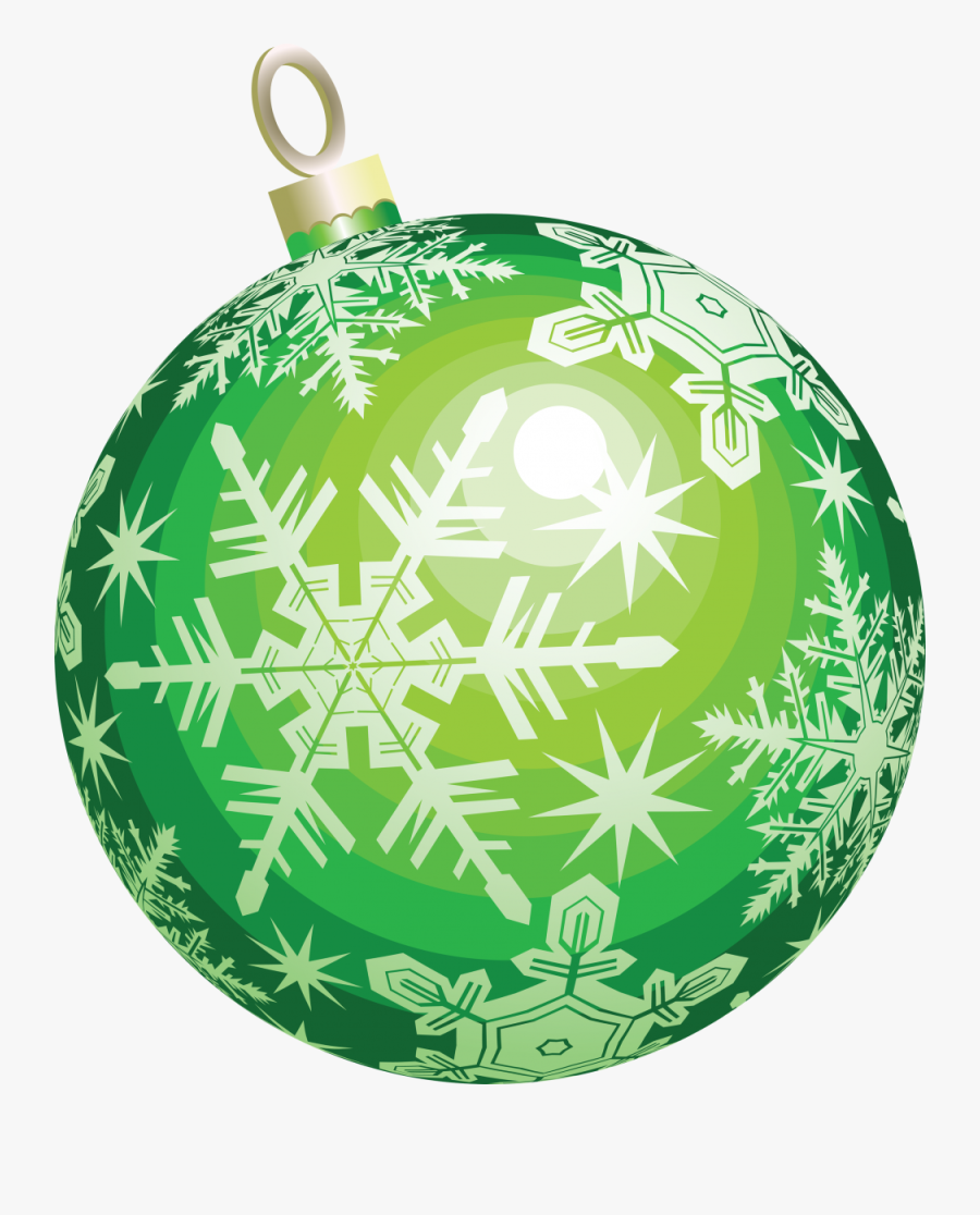 Green Christmas Ornament Png, Transparent Clipart
