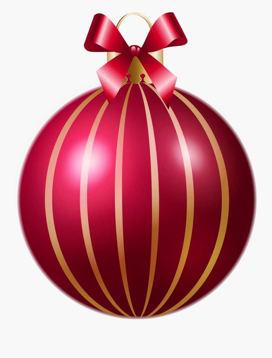 Striped Ball Ornament Christmas Red Free Photo Png - Christmas Decors Pink Png, Transparent Clipart